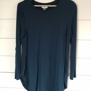 Jewel Tone Long Sleeve Shirt - sz m